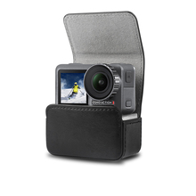 Portable case leather Bag Magnetic adsorption case storage bag for dji osmo action sport camera Accessories