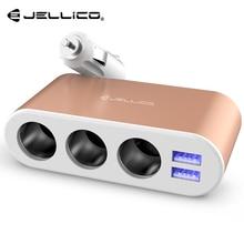 Джеллико 3.1A 3 прикуривателя и 2 USB быстрая зарядка для Iphone X 8 7 Plus для samsung S9 S8 мобильных телефонов Планшеты автомобиля Зарядное устройство