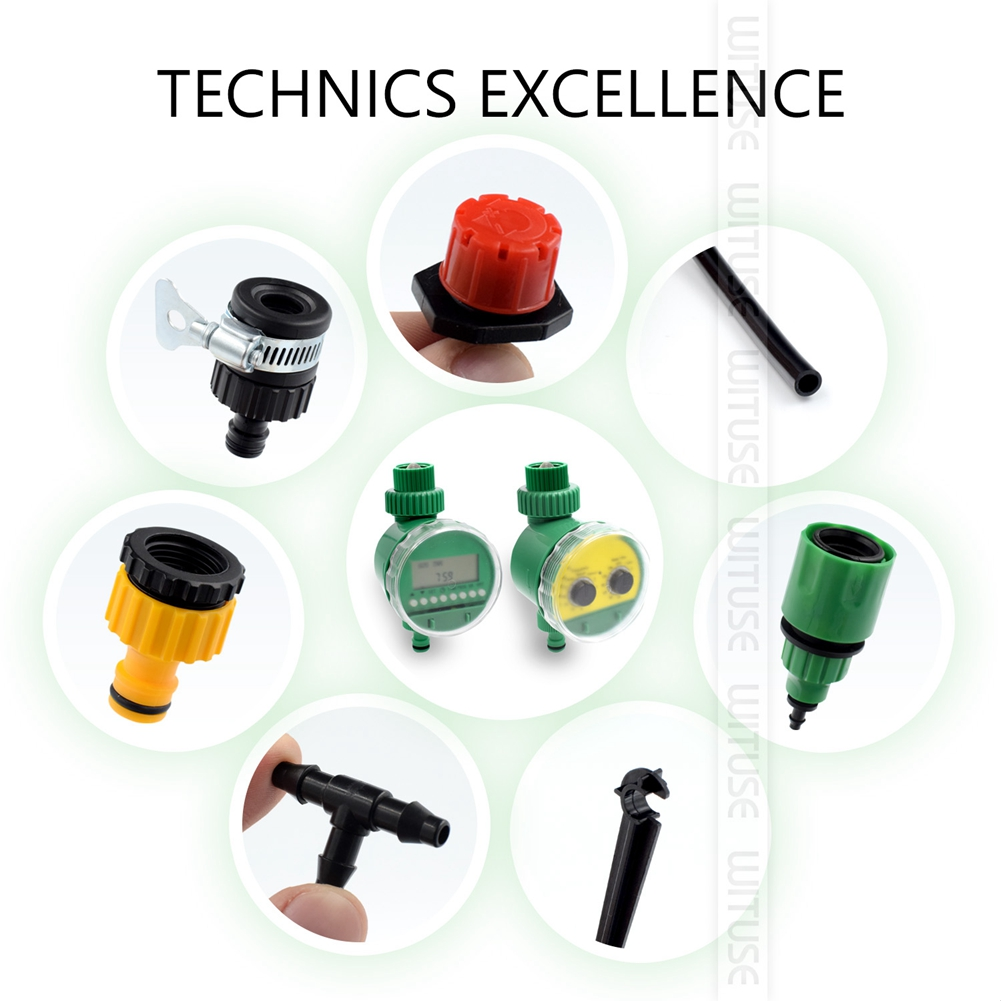 2 Choices 5m 30m DIY Micro Drip Irrigation System Plant Self Automatic Watering Timer Garden Hose Kits With Adjustable Dripper in Watering Kits from Home Garden
