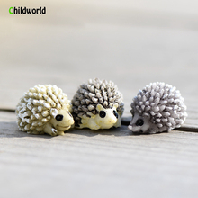2pcs Hedgehog Micro Landscape Ornaments DIY Decorative Resin Statue Landscaped Accessories Animal Gifts