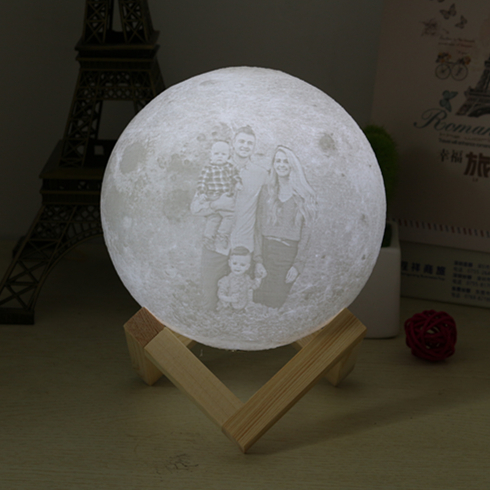 Customized Print 3D Print Moon Light Touch Switch/Remote control Novelty Light LED Personalized Romantic Lunar Moon Lamp 16color