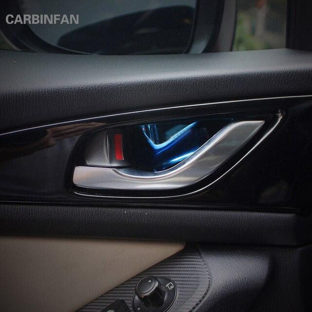 Kapı Kolu Kase Etiket Mazda 3 Axela Için fit 2014-2017 Paslanmaz çelik Iç kapı kase çıkartmalar Araba İç Kalıp B17