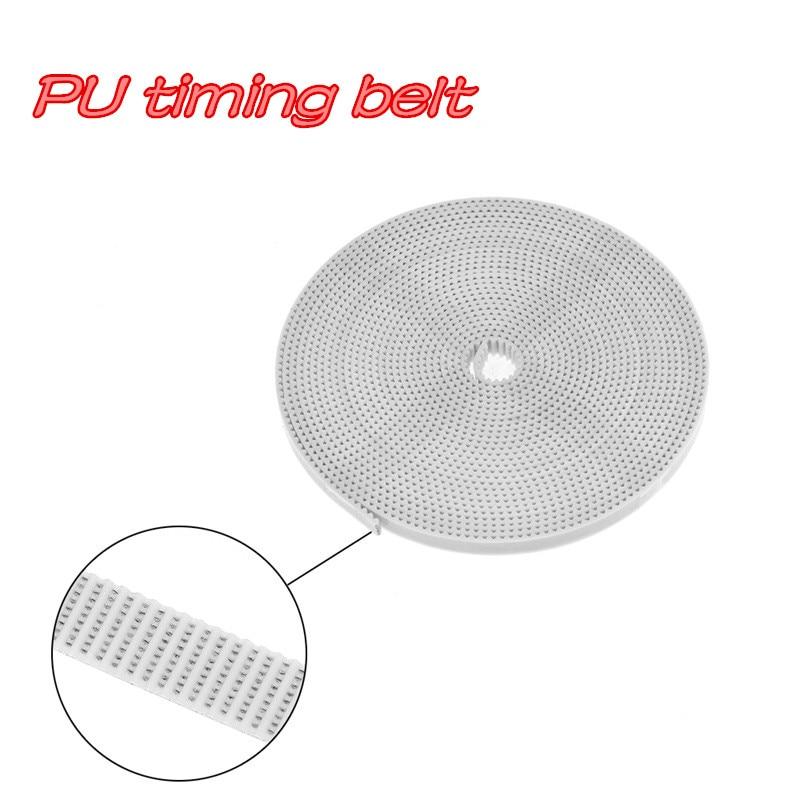 3D printer transmission accessories 2GT white timing belt 6mm 10MM opening PU timing belt 3D Pens     - title=