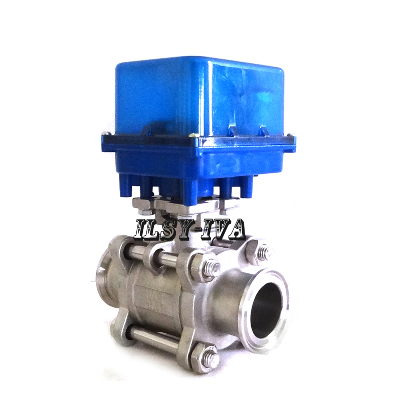 DN50 two way quick release fixed type electric ball valve with 3 or 4 wires control