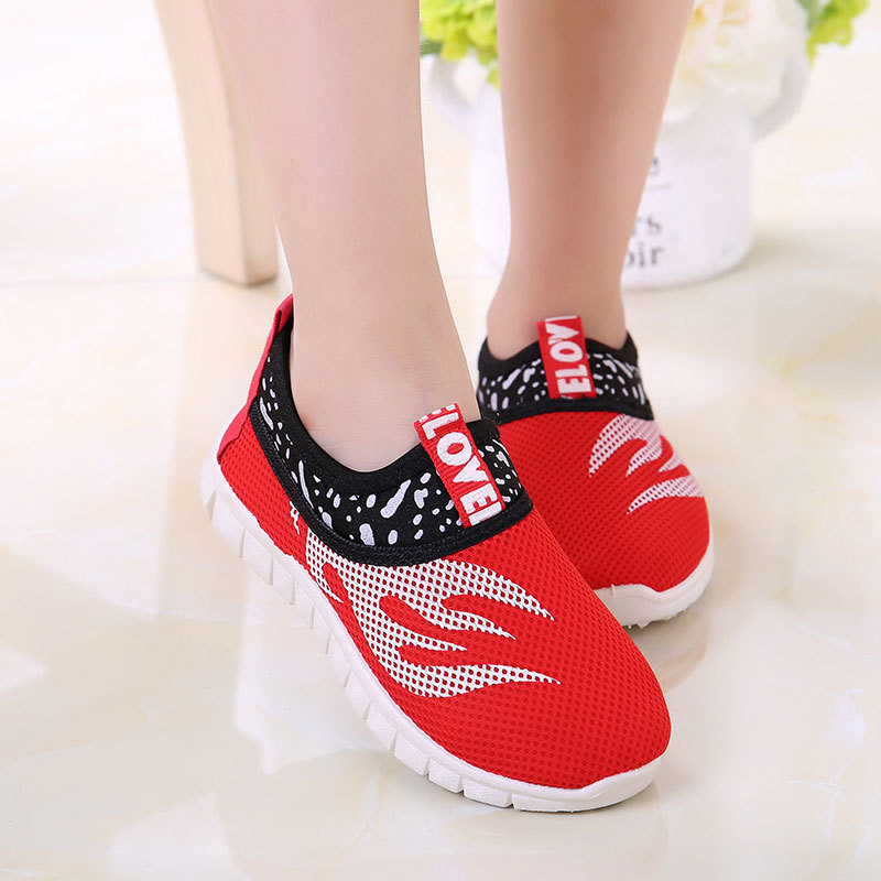 2018 Kids school shoes for girls autumn spring sneakers boys running sports shoes air mesh pink black blue green for 2-16Y цена