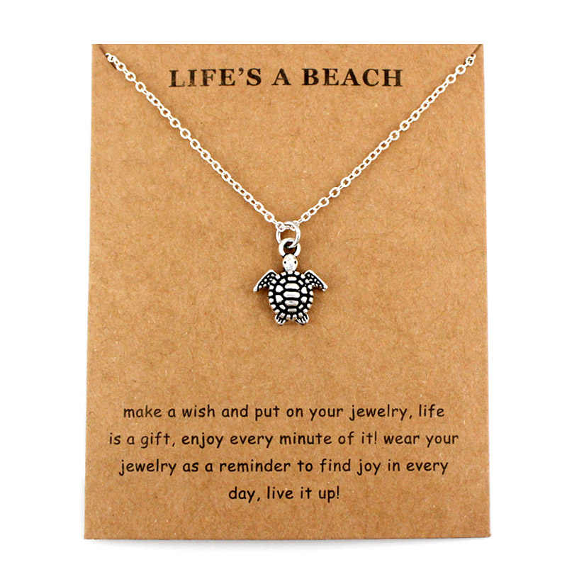 Mar tartaruga pingentes colares sereia ondas areia dólar estrela do mar concha peixe tubarão praia charme feminino jóias