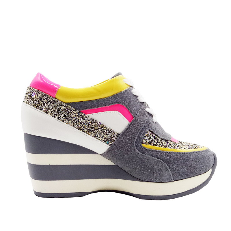 81f01c3b61e9 LORFRCIN Women Shoes Autumn Genuine Leather Elevator Platform Wedges Shoes  Woman High Increasing Casual Trainers Tenis Feminino-in Women s Pumps from  Shoes ...