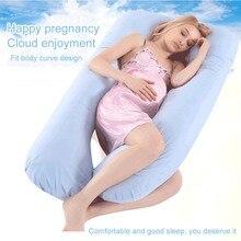 Подушка для беременных, подушка для тела, Подушка для сна, для женщин, полностью хлопковая наволочка, u-образная Подушка для беременных