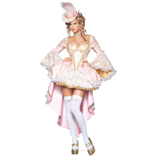 Halloween Party White And Pink Princess Lolita Fancy Dress Adults Sexy Costumes Women Cosplay Costume 2017 Fantasias Femininas