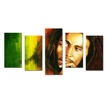 Music Legend Bob Marley Painting Art Poster Canvas Print 5 Picture Large Size Wall Art Painting for Living Room Wall Decoration