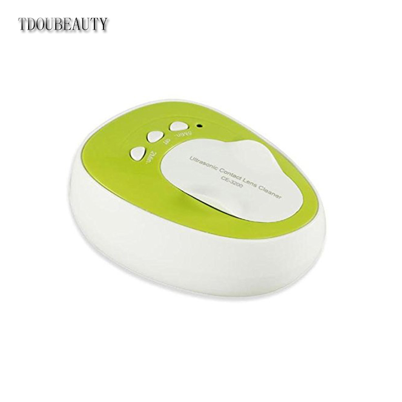TDOUBEAUTY CE-3200 Mini Ultrasonic Contact Lens Cleaner Kit Daily Care Fast Cleaning New Green Free Shipping