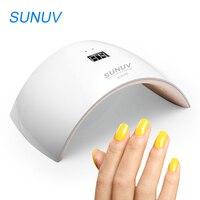 SUNUV 24 W מייבש מסמר המנורה UV אור LED עבור כל ג 'לי SUN9S Cruing טעינת USB מניקור כלי