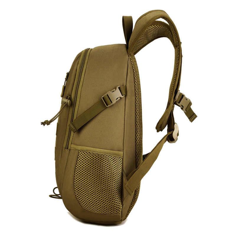 ミニ 12L 戦術的なモールのバックパック子供の学校のバッグナイロン防水屋外狩猟戦闘軍事迷彩リュックサック
