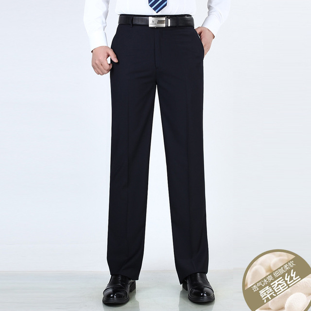 Anti Wrinkle Smooth Silk Suits Pants 2
