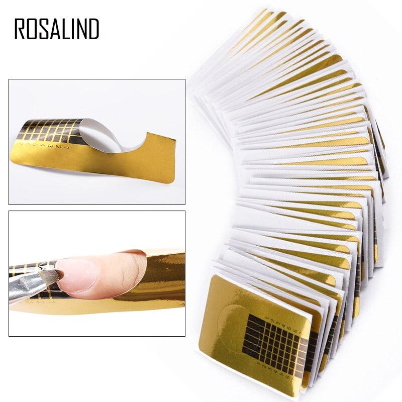 ROSALIND формы для наращивания ногтей для французского маникюра наклейки для ногтей 100 шт./лот Профессиональные акриловые формы для дизайна ног...