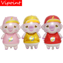 VIPOINT PARTY 80x47cm pink red yellow pigs foil balloons wedding event christmas halloween festival birthday party HY-108