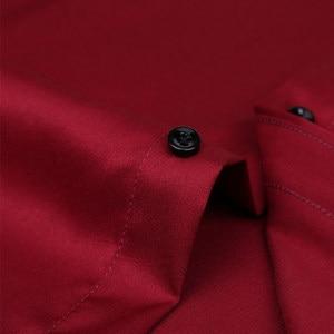 Image 5 - 2020 גברים חולצות אביב סתיו חדש הגעה Slim Fit זכר חולצה מוצק ארוך שרוול בסגנון בריטי כותנה גברים של חולצה להאריך ימים יותר YN10383