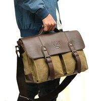 Designer Brand Vintage uomini messenger borse moda messenger bag borsa di tela con Borse in pelle Crossbody Valigetta di trasporto libero