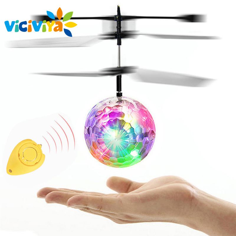 Dropship LED Magic Flying Ball Colorful Stage Lamp Helicopter Infrared Induction LED Flying Balls Kids Children Christmas Gift/