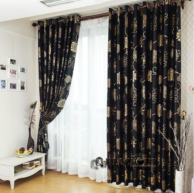 Popular Black Blackout Curtains-Buy Cheap Black Blackout Curtains ...