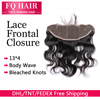 Virgin Peruvian Body Wave Lace Frontal Closure 13x4 Full Lace Frontals With Baby Hair Virgin Human Hair Frontal Closure
