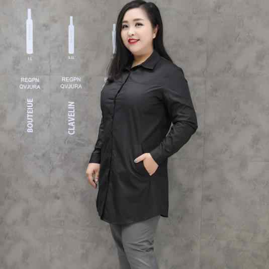 Retro Women Blusas Shirts 2019 Autumn Women Plus Size Tops Long Sleeve Shirt Retro black office ladies Long Blouses Tops M324