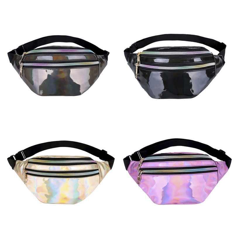 Cysinco bolsa de cintura feminina multi-bolso saco de vapor punk cintura hip cinto moda telefone titular saco de peito