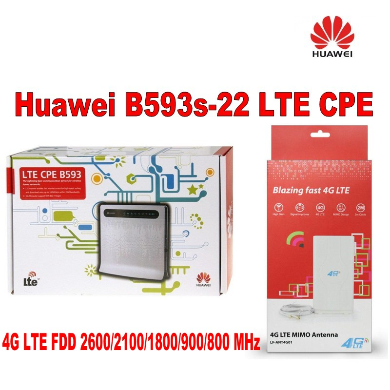 Orignal and brand new huawei B593S-22 LTE TDD wireless broadband router plus 4g antenna