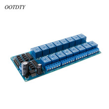 цена на OOTDTY 16 Channel 5V Relay Shield Module For Arduino UNO 2560 128 ARM PIC AVR STM32 Electronic Relay Belt Optocoupler Insulation