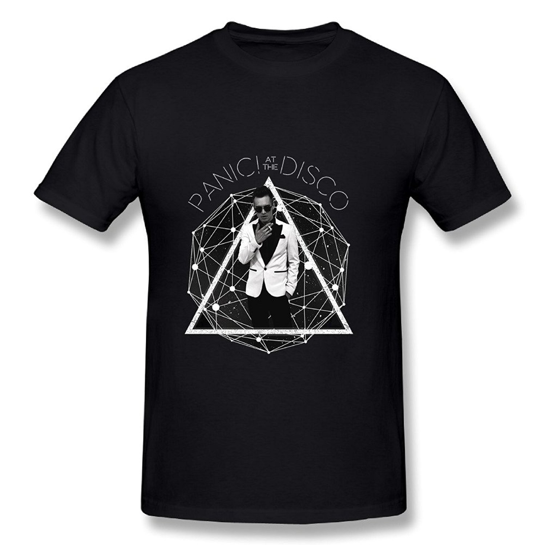 New Man Design T-Shirt Print Pop Band Panic! At The Disco Tour 2018 Poster Black Mens T Shirt