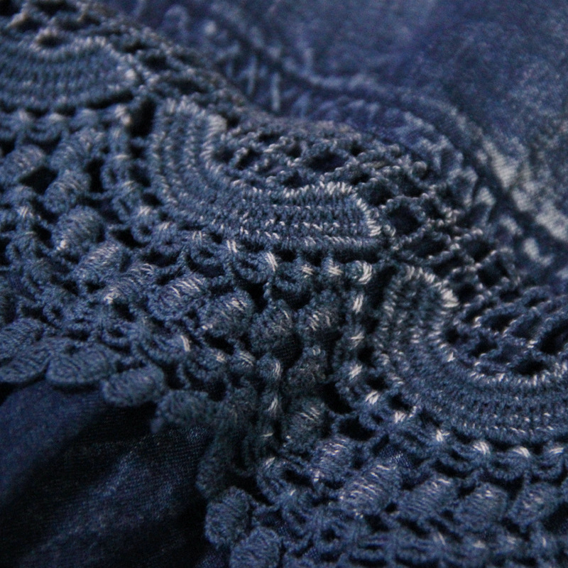 Roupas Mujer Vêtements Broderie Feminina Denim Vintage Automne Robes Femmes Muxu Bleu Jurken Robe xqpv6OU1