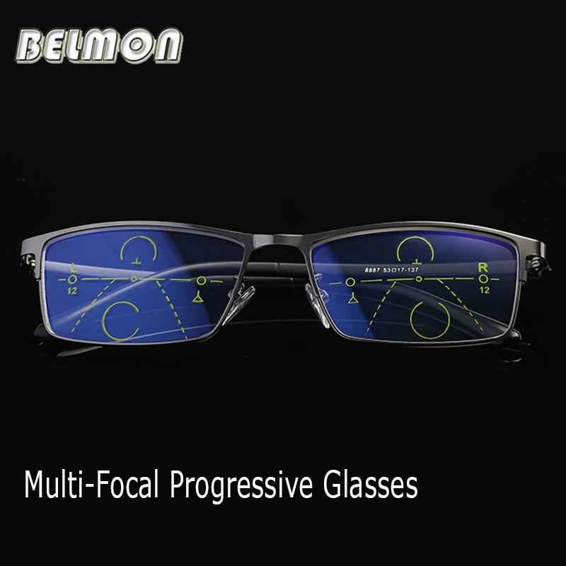 Belmon Multi Focal Progressive Reading Glasses Men Prescription Presbyopic Diopter Male Eyeglasses 1 0 1 5 2 0 2 5 3 0 RS796 in Men 39 s Reading Glasses from Apparel Accessories