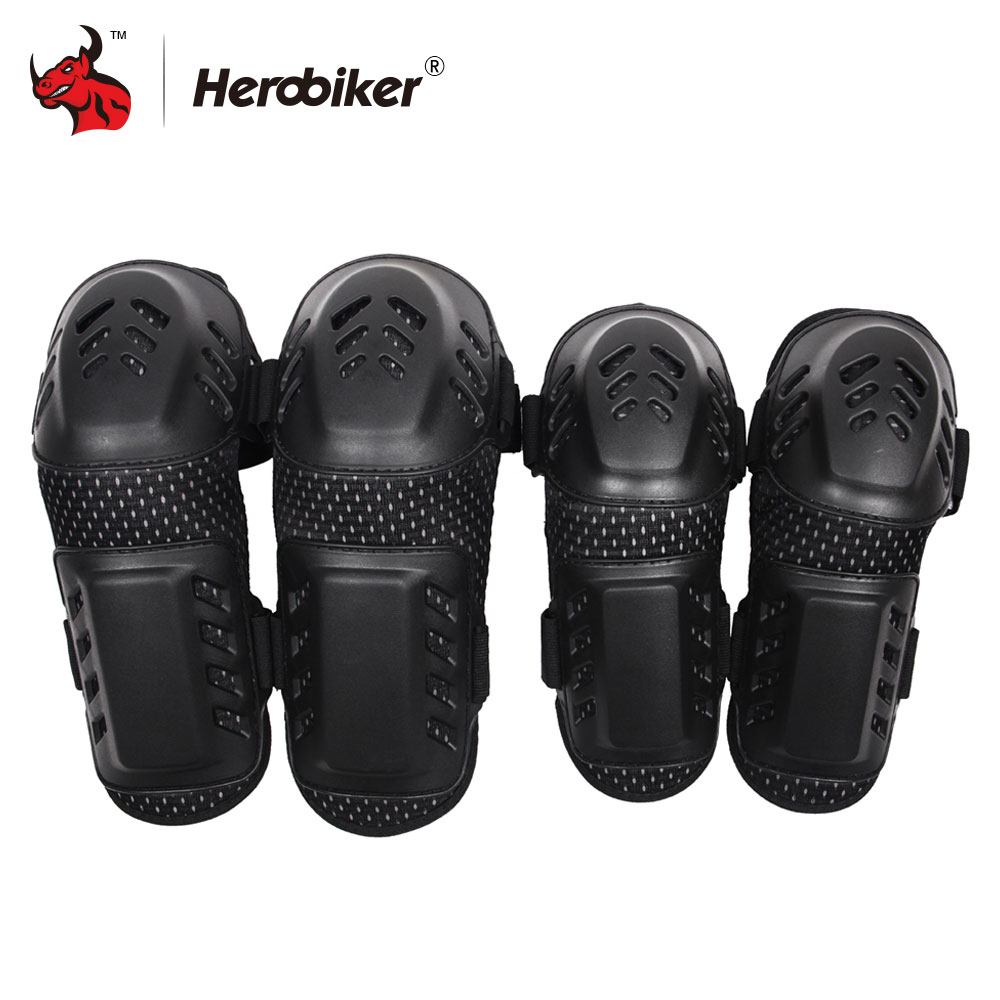 Ginocchiere moto HEROBIKER Motocross Ginocchiere off-road racing + gomitiere Set Noto Knee Motorcycle Equipment