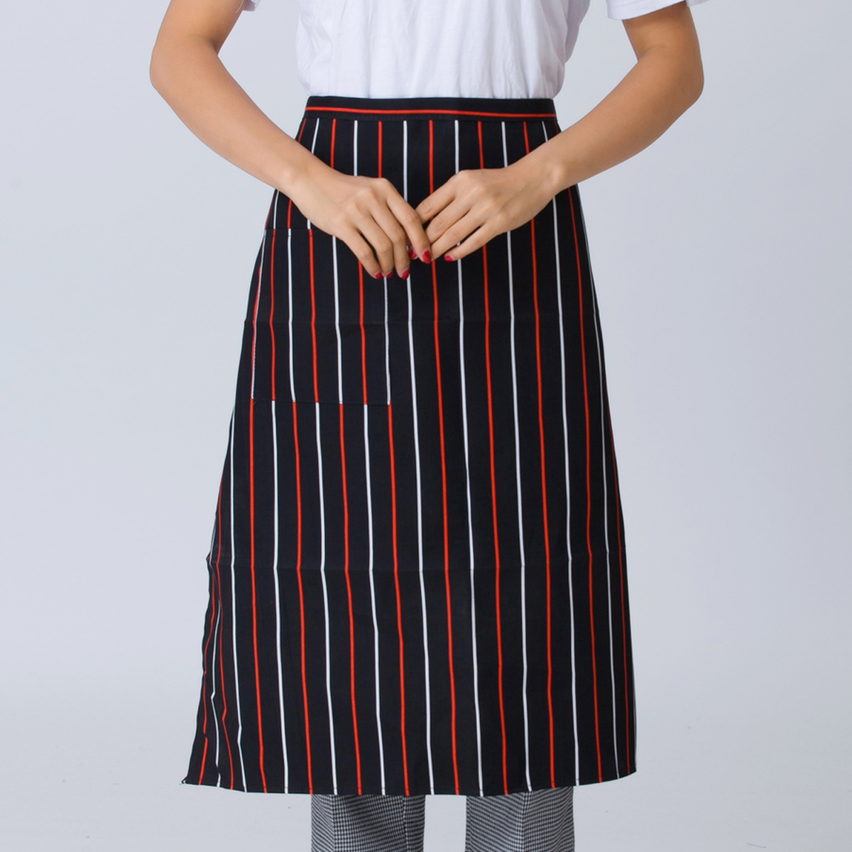 Buy white apron online - Hotel Chef Kitchen Apron Home Furnishing Bakery And Restaurant Waiter Body Hanging Neck Waiters Uniforms For
