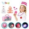 34 unids kids toys conjunto enfermera médico dr. baby kit pretend play herramientas médicas caja de cosplay para niños con luz y sonido