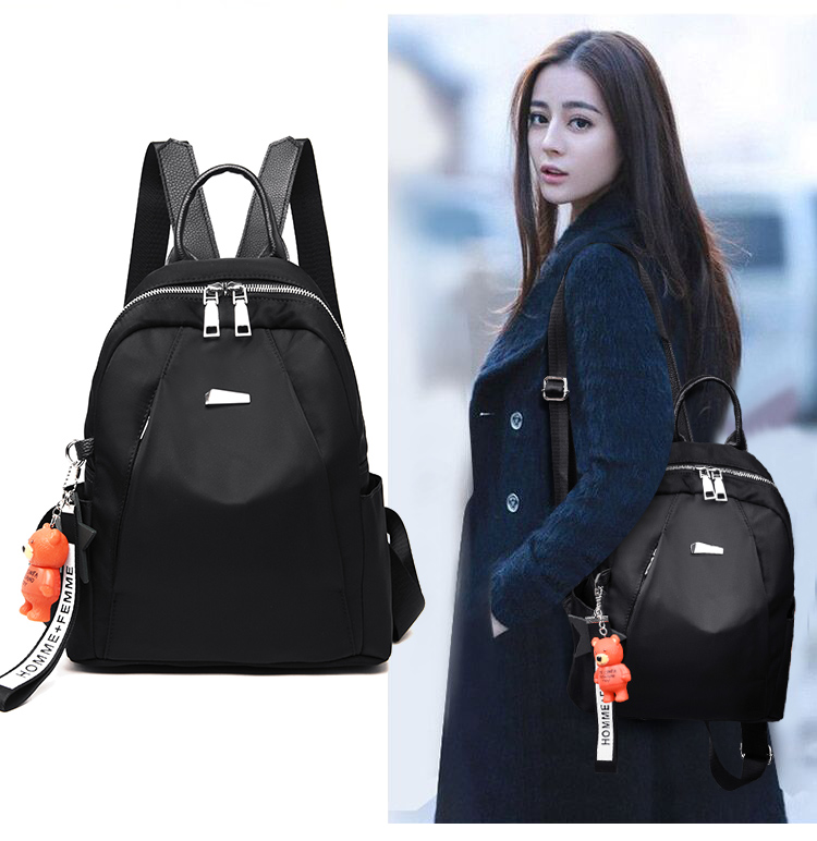 2018 Casual Backpack Women Black Oxford School Bags for Teenagers Girls  Waterproof Oxford Womens Backpack Bag-in Backpacks from Luggage   Bags on  ... 51ce0cb817a4d