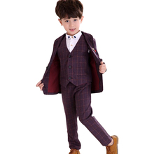 2019 New Baby Boys Suits Formal Spring Autumn Blazers Boys Suit for Weddings Costume Party Suits Boy Kids Blazer недорого