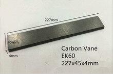 227x45x4 мм EK60 углерода лопасти Для Беккер вакуумные насосы ТГВ 100/углерода графита лист