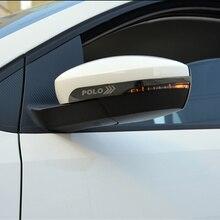 2 шт./лот, зеркало заднего вида из нержавеющей стали, анти-натирающий светильник для- Volkswagen VW POLO