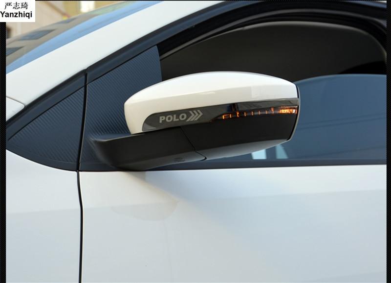 2pcs/lot Stainless Steel Rearview mirror anti rubbing bar light bar anti rubbing strip for 2014-2017 Volkswagen VW POLO