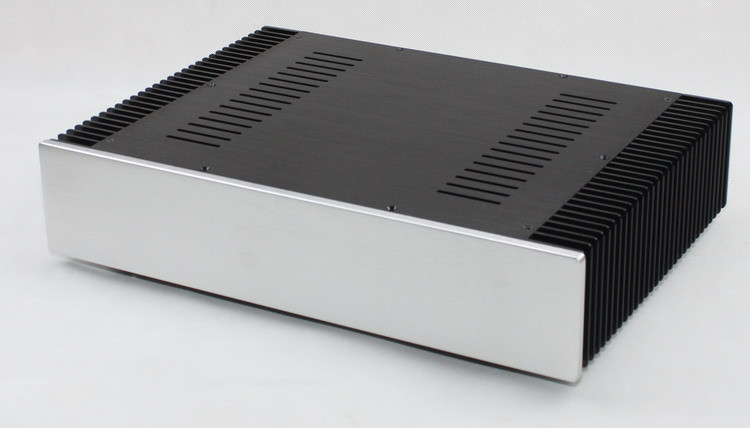 Class A Amplifier Chassis WF1108 Aluminum Enclosure Power amp Case/ DAC Box 1969 aluminum enclosure power amplifier chassis class a amp box dual heatsink
