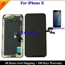 شاشة عرض LCD مختبرة AMOLED لهاتف iPhone XS LCD لهاتف iPhone X شاشة عرض OLED LCD محول رقمي باللمس