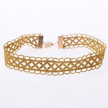 Sexy Hollow Out Lace Green/Yellow Choker Necklace Retro Chocker Collar Necklaces For Women Tattoo Chic Neck Jewelry накладки на зеркала хром oem tuning cnt17 13rav4 029 для toyota rav4 2015%2
