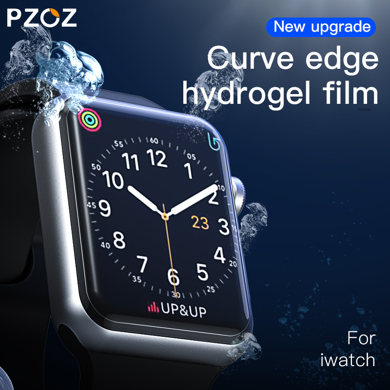 Image 4 - PZOZ For iWatch 4 3 Hydrogel Film Full Screen Protector Glass For Apple Watch 1 2 3 4 Tempered Film HD Curve Edge Glass 38/42mm-in Smart Accessories from Consumer Electronics