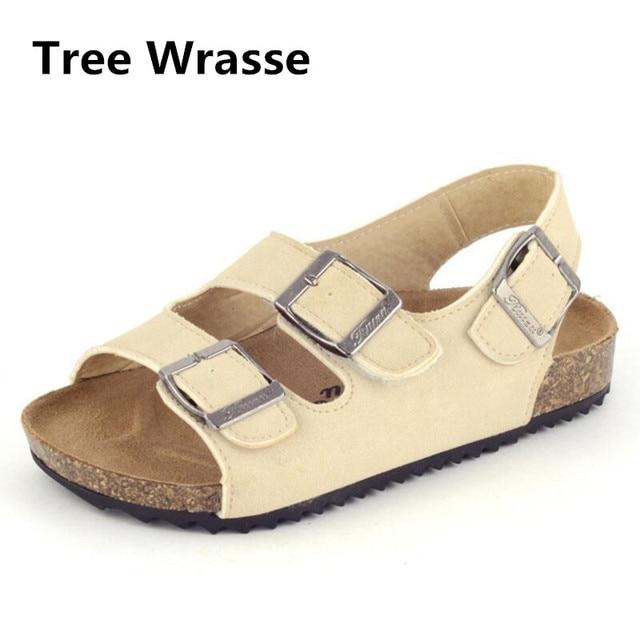 ef3b99024784c Los niños de verano sandalias de corcho niños niñas sandalias para bebé  niño hebilla de zapatos