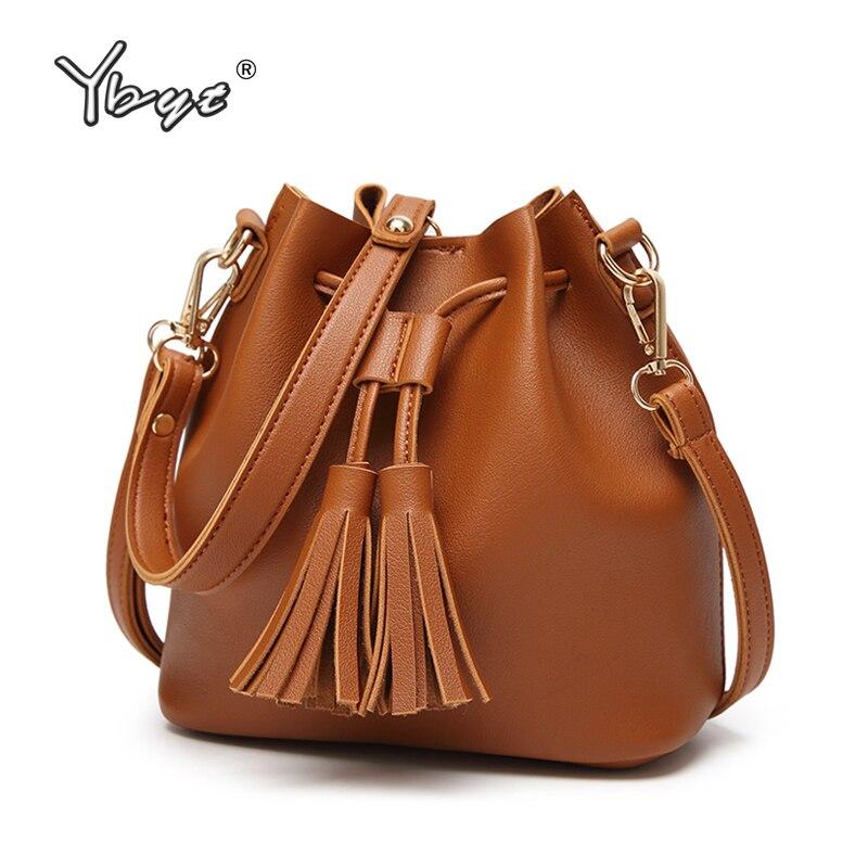 YBYT 브랜드 2018 새로운 패션 캐주얼 여성 술 버킷 가방 숙녀 럭셔리 핸드백 쇼핑 포켓 여성 어깨 crossbody 가방