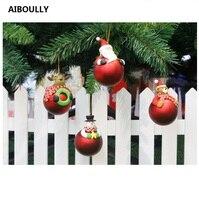 Aiboully 4 قطعة/المجموعة 7 سنتيمتر pvc الكرتون كرات عيد عرس حزب زينة الأعياد هدية عيد الميلاد شجرة حلية