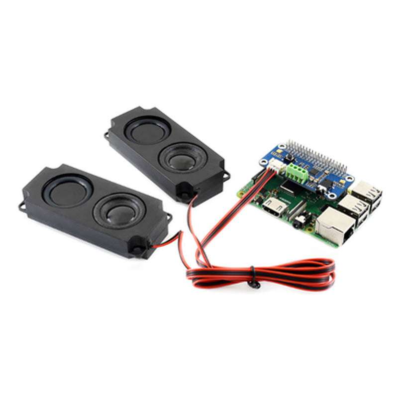 WM8960 Hi-Fi Sound Card HAT For Raspberry Pi Zero/Zero W/Zero WH/2B/3B/3B+, Stereo CODEC, Play/Record