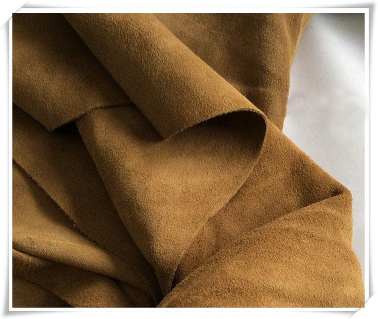 Auténtica piel de vaca de ante de cuero de vaca materia prima pieza entera - 5