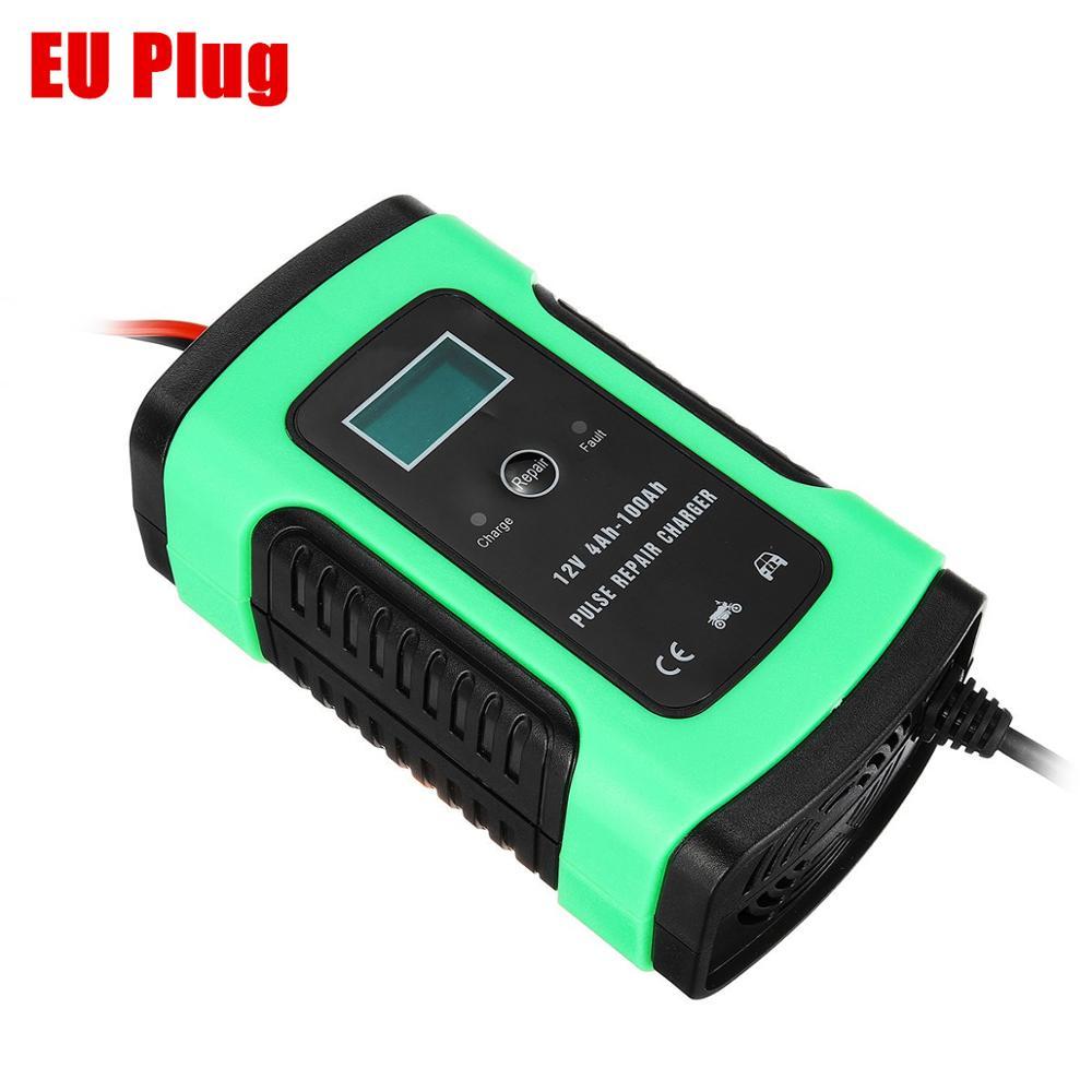 12V 5A Авто интеллигентая(ый) Батарея Зарядное устройство скачок стартер ЖК-дисплей интеллигентая(ый) 100-240V 100AH импульсный ремонт Тип - Цвет: EU